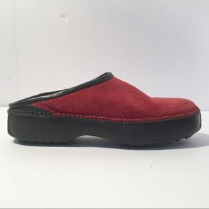 Cole Hann Red Suede Mules